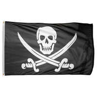 1pcs Skull Bones Jolly Roger Skull Crossbones Flag home decoration Grommets Pirate Flags Event Party Supplies kid toy 90x150cm