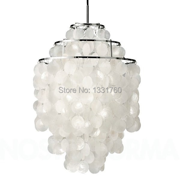 Aliexpress Buy Verner Panton Shell lamps Fun 2 and 3 Circle – Seashell Chandeliers