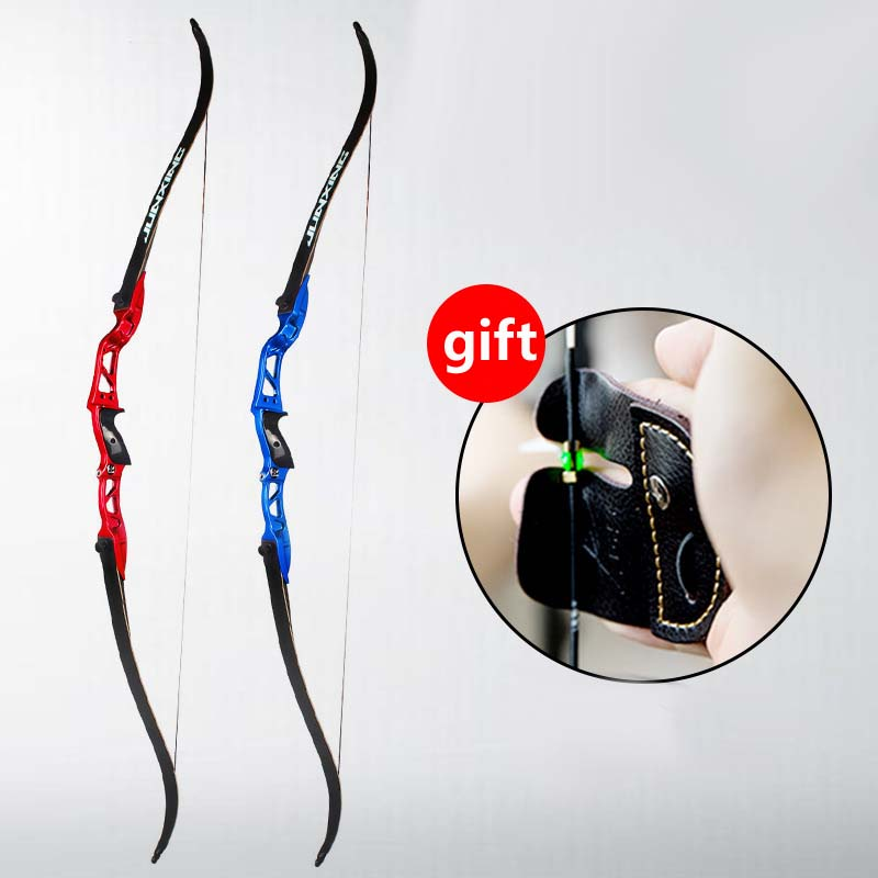 2 Color 18-30 lbs Recurve Bow American Hunting Bow Archery With 63 inches Metal Riser Tranditional Long Bow Hunting 54 inch recurve bow american hunting bow 30 50 lbs for archery outdoor sport hunting practice