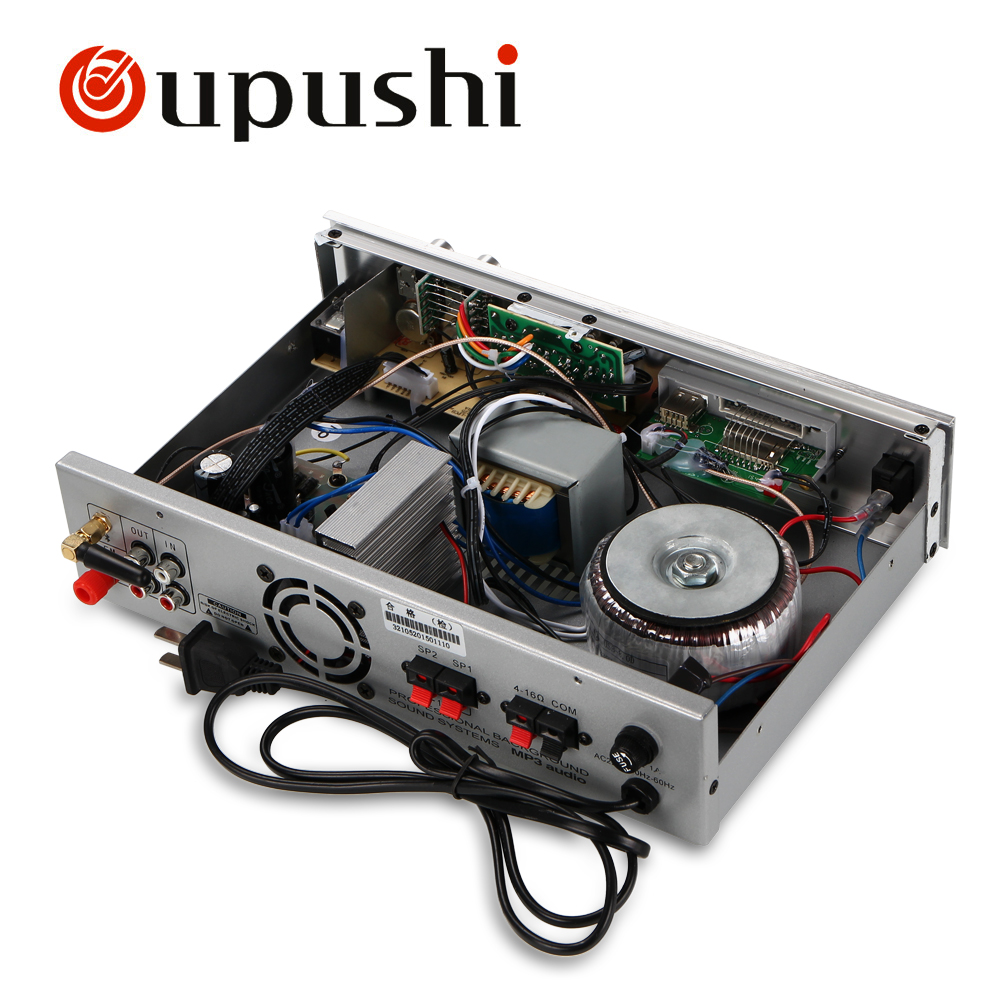 Oupushi Bluetooth Home Background Music System MP3 Player 50W USB Amplifier With 6 Inch / 8 Inch Ceiling Speakers 4