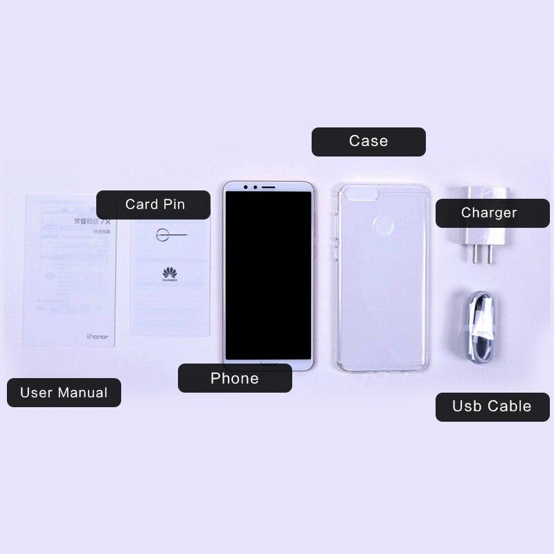 Global Firmware Huawei Honor 7X Smartphone 5 93″ Full View Screen  2160*1080P Octa Core 2 4GHz Dual Rear Camera 16MP Fingerprint