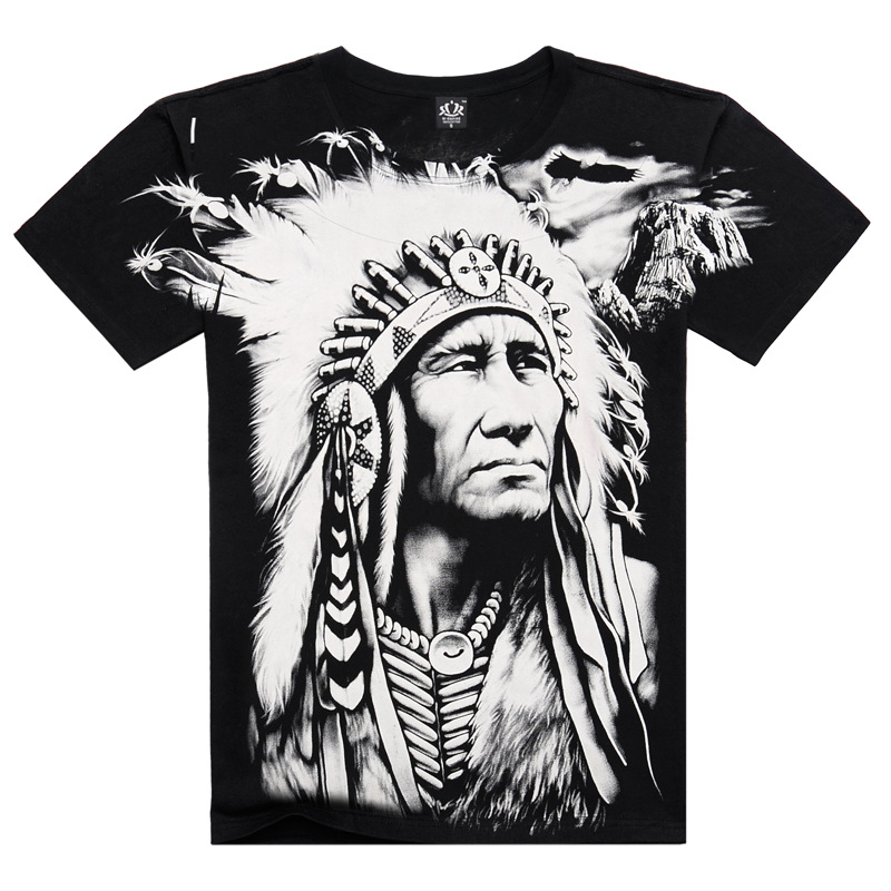 Hip hop style swag cotton t shirt short sleeve indian for Austin t shirt printing