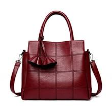 Женская сумка, женская сумка, новинка, искусственная кожа, сумка через плечо, сумка-мессенджер, стильная, OL, большая вместительность, Женская Лоскутная черная сумка-тоут