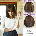 Fashion 1 Clip in Bangs women Hair Extension Hairpieces  Front Neat Fringe Hair Extensions Invisible False Hair Bangs Hairpiece