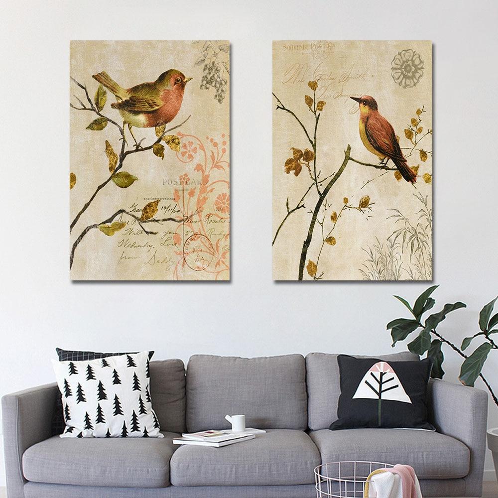 2 Panel Animal Canvas Painting Canvas Art Print Poster Canvas Art ...