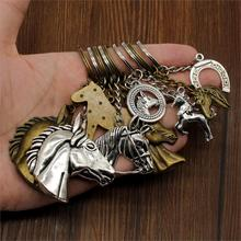 Hot Sale New Key Chain Unicorn Horse Horseshoe Car Ring Holder Souvenir Gift Handmade For Girls