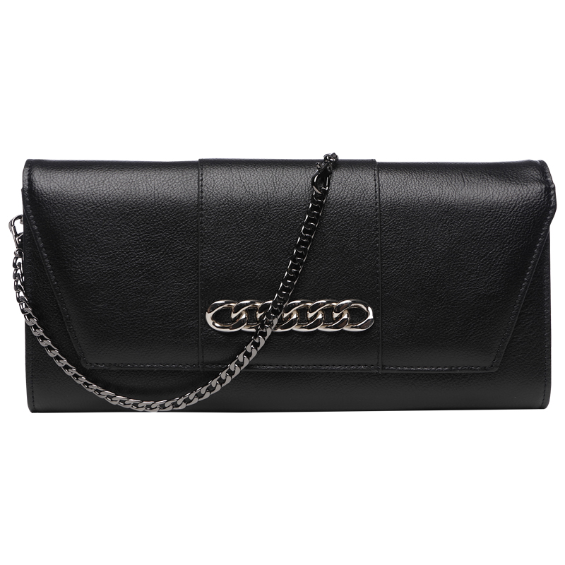 Ladies Banquet Bag Handbag Chains Shoulder Messenger Envelope Bag Woman Clutches Bag Long Wallet Genuine Leather Purse Wristlet цены