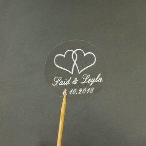Image 4 - 150 шт. 30 мм индивидуальный Золотой Печатный персонализированный прозрачный Свадебный Пригласительный конверт с уплотнением наклейка