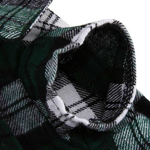 Piccolo Cane di Animale Domestico Della Camicia di Plaid del Risvolto del Cappotto del Gatto Giacca Vestiti di danza Costume Abbigliamento