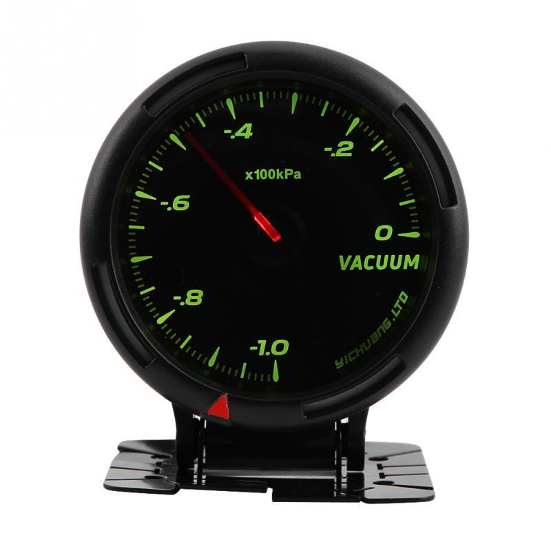 Initiative 12v 64 Color Led Backlight Vacuum Meter Gauge 100kpa With Sensor For Auto Racer Car 0~100kpa Boost Gauges
