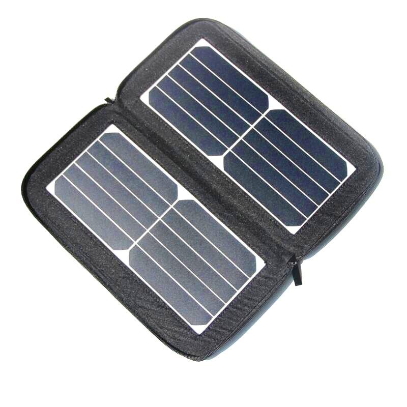 BUHESHUI New Designed Sunpower Solar Panel Solar Powered Phone Battery Charger Solar Bag Foldable/Portable 12 Watt Free Shipping
