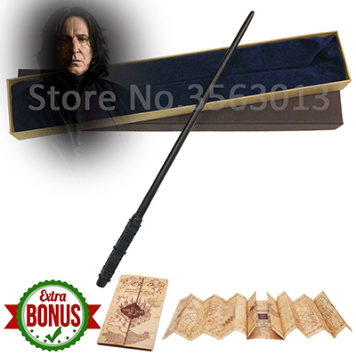 Newest Quality Sturdy Deluxe Metal Core COS Harry Movie Severus Snape Magic Wands/Stick With Gift Box Packing