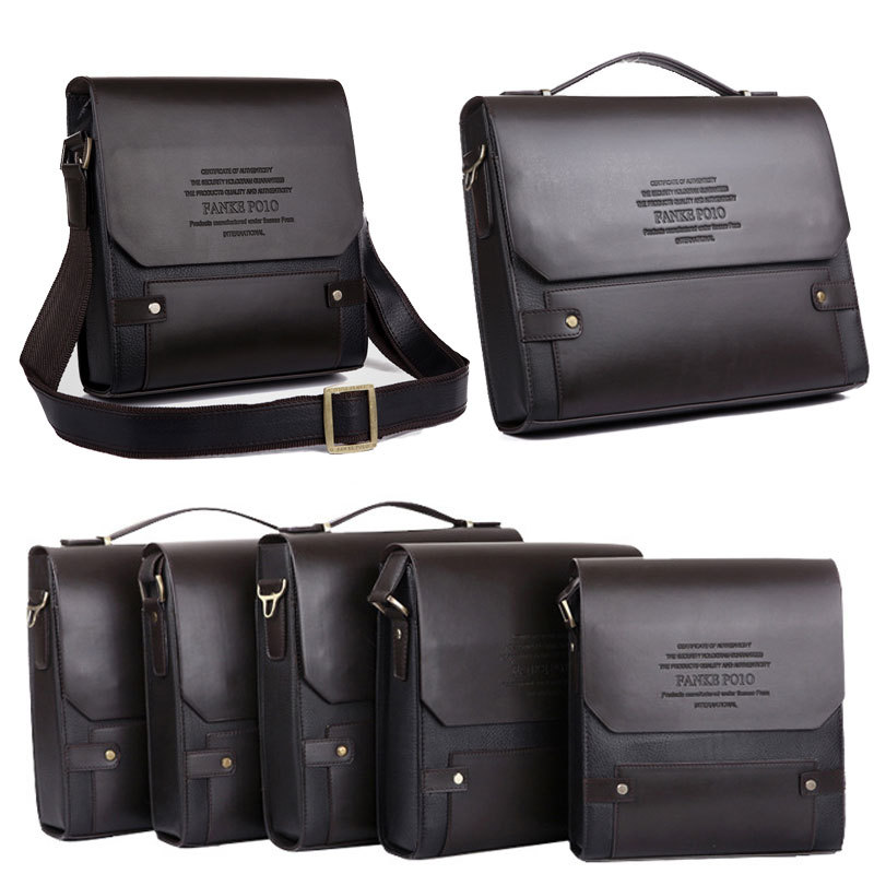 Promotion!!! HOT Luxury GENUINE Leather Men Bag Famous Brand ...
