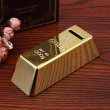 ABS Plastic Piggy Bank Gold Bullion Brick Brick Coin Box Case Saving Money Box for Kids Children Birthday Gifts Home Decor