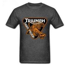 2019 camiseta personalizada Triumph de la motocicleta de la impresión divertida para hombres ropa de la bandera del Reino Unido camiseta de los hombres camiseta Vintage camisetas de marca para hombres