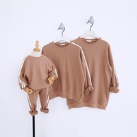 Korea School Sport Meeting Father&Mother/kids Sportswear Sweatshirts Family Look Clothing Family Matching Outfits (kids set)