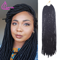 "16Roots/Pack Dread Faux Locs Braids Crochet Hair Havana Twist 18""Synthetic Braiding For Beautiful Women Quality Crochet Braids"