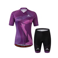 Women S Cycling Jersey Bib Shorts Sets Team Ladies Cycling Bib Short Padded Kit Purple