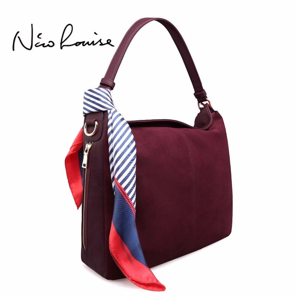 Последние Для женщин из натуральной замши сумка женский досуг большие сумки на ремне Повседневное нубука Путешествия Сумочка Кроссбоди Ме...