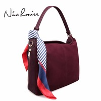 Latest Women Real Suede Leather Tote Bag Female Leisure Large Shoulder Bags Casual Nubuck Travelling Handbag Crossbody Bag