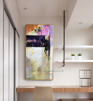 Oil painting original for living room wall art home decoration abstract vertical fashion home design lienzos cuadros decorativos