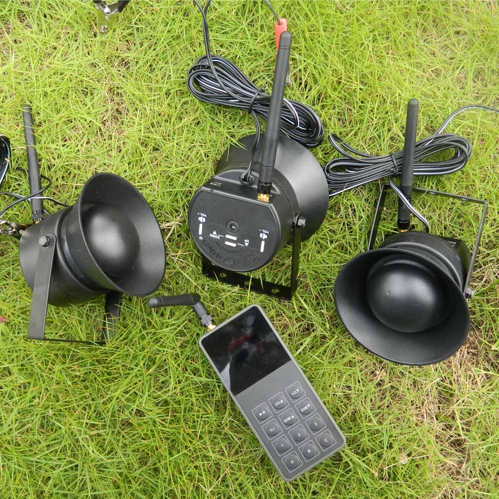 Открытый Охота птица вызывающей MP3 250 ярдов дистанционного управления + 3 шт. 50 Вт Динамик плеер Гусь утка птицы охота Decoy