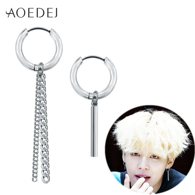 AOEDEJ Jin Jimin BTS Earrings Kpop Bangtan Boys Korean Earrings Tassel Long Earr