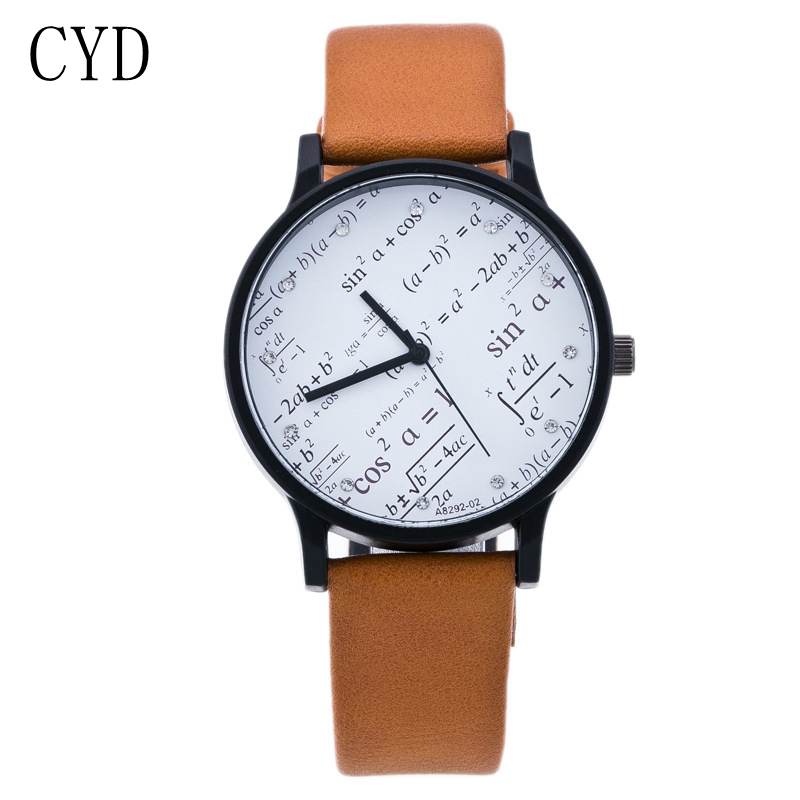 Hot Style Mathematical formula Personalized watches High Quality Luxury Fashion Men women Wristwatches School quartz-watch Clock free drop shipping 2017 newest europe hot sales fashion brand gt watch high quality men women gifts silicone sports wristwatch