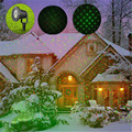 Waterproof Moving Full Sky Star Laser Projector Lamps Red&Green Landscape LED Stage Light Christmas Party Garde Light Outdoor
