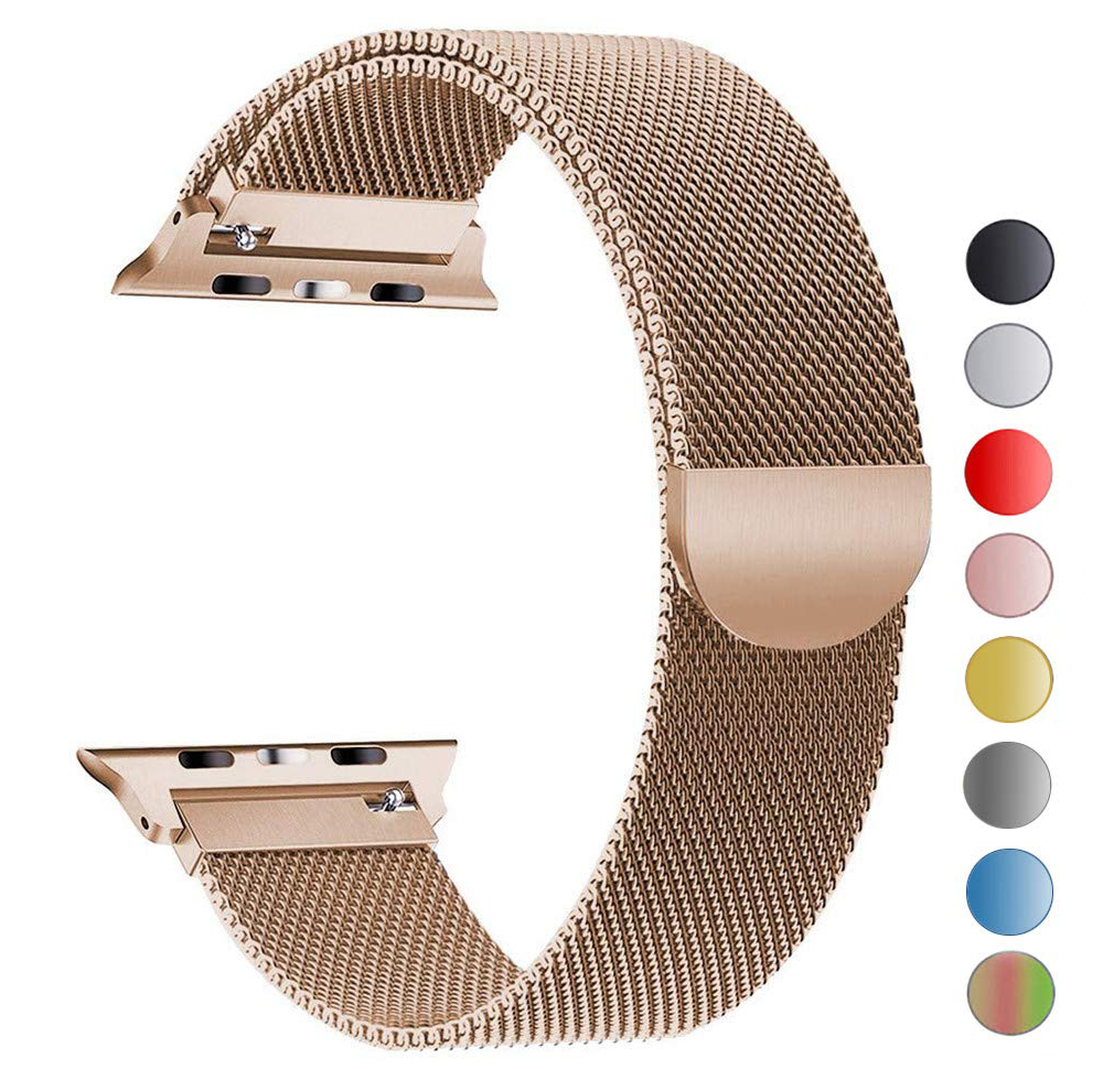 Milanese Loop strap For Apple Watch bands series 1 2 3 4 Bracelet band for Apple Watch 38mm 42mm 40mm 44mm Stainless Steel strapMilanese Loop strap For Apple Watch bands series 1 2 3 4 Bracelet band for Apple Watch 38mm 42mm 40mm 44mm Stainless Steel strap