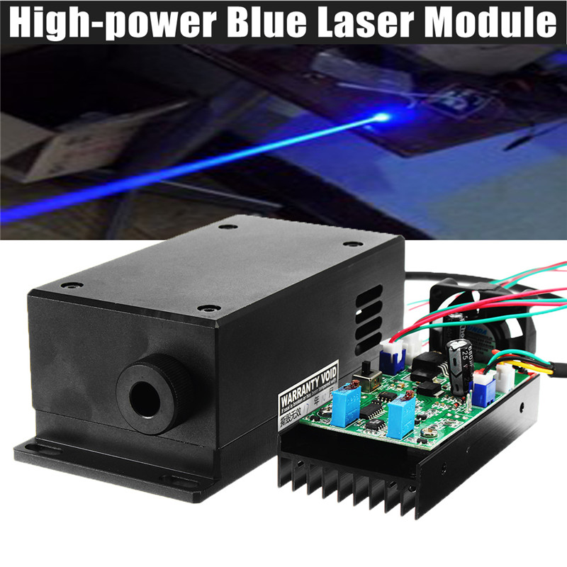 17 W Haute Puissance Laser Tête De Gravure Module Réglable Focal 450/445nm 17000 mw Bleu Laser Module DIY Bois métal Machine De Gravure