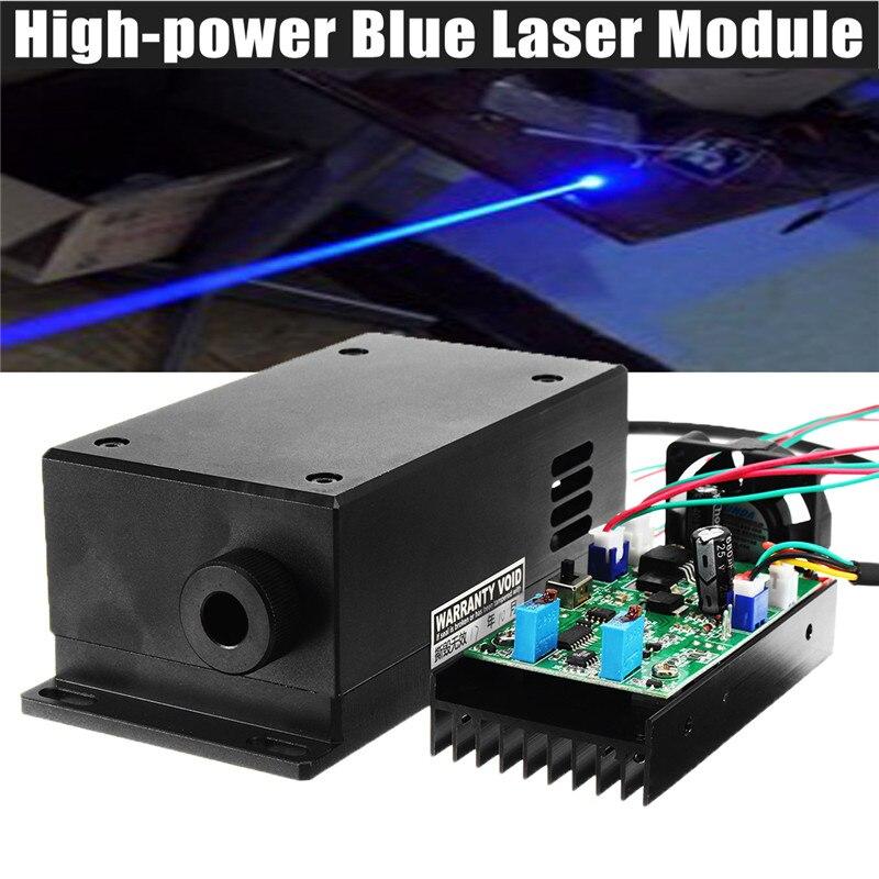17 w Haute Puissance Tête Laser Gravure Module Focale Réglable 450/445nm 17000 mw Laser Bleu Module BRICOLAGE Bois machine de Gravure en métal