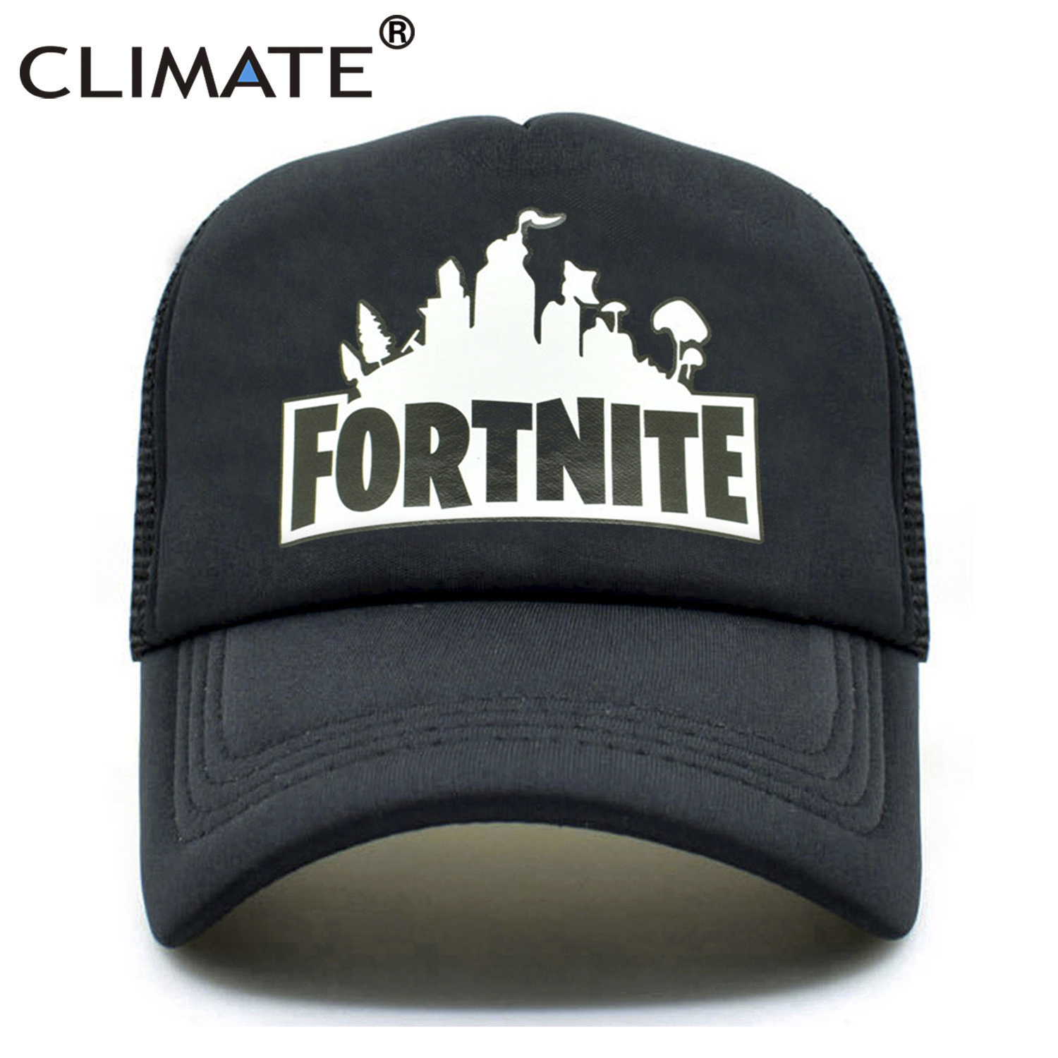 CLIMATE Fortnite New Hot Trucker Cap Hot Game Fortnite Fans Cool Mesh Caps Summer Baseball Net Trucker Caps Hat For Men Women climate men summer black mesh caps star wars bounty hunter fans cool summer baseball cap black net trucker caps hat for men
