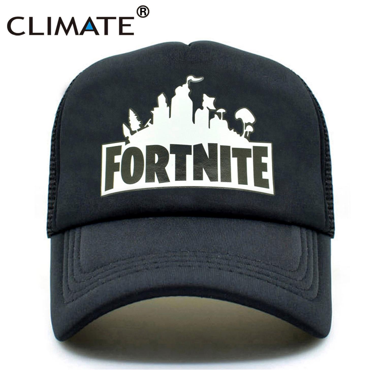 CLIMATE Fortnite Trucker Cap Hat Hot New Game Fortnite Fans Cool Mesh Caps Summer Baseball Net Trucker Caps Hat For Men Women