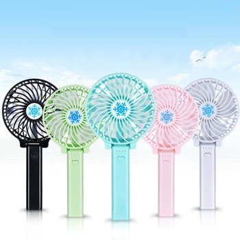 Handy Usb Fan Foldable Handle Mini Charging Electric Fans Snowflake Handheld Portable For Baby Girls on Bus or Outdoor Summer Replacement Parts & Accessories