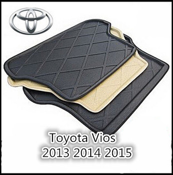 Trunk Tray Liner Cargo Mat Floor Protector foot pad mats For Toyota Vios 2013 2014 2015 2016 (Black,Beige)