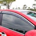 Для KIA RIO К2 окно visor Маркизы и Приюты Дождь крышка редуктора Внешней части украшения автомобиля для укладки волос аксессуар 2010-2016
