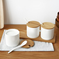 Kitchen supplies Ceramics Cooking Food Container Organizer Glasses For Spiced Sugar Bowl Spice Box Kitchen Storage Bottle