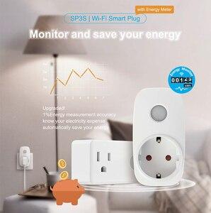 Image 2 - Broadlink SP3S Eu/Ons Energie Monitor Smart Draadloze Wifi Socket Afstandsbediening Ontmoette Power Meter Controle Deur Ios Android
