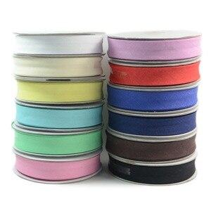 12 шт., Ширина 20 мм, Микс, 12 цветов, лента для переплетения, хлопок, для шитья, сложенная лента, отделка, сделай сам