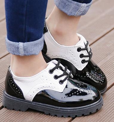 Sapatos de couro menino sapatos único primavera 2016 crianças vestido de princesa para as meninas mocassins chaussure fille derramar enfant infantis 441