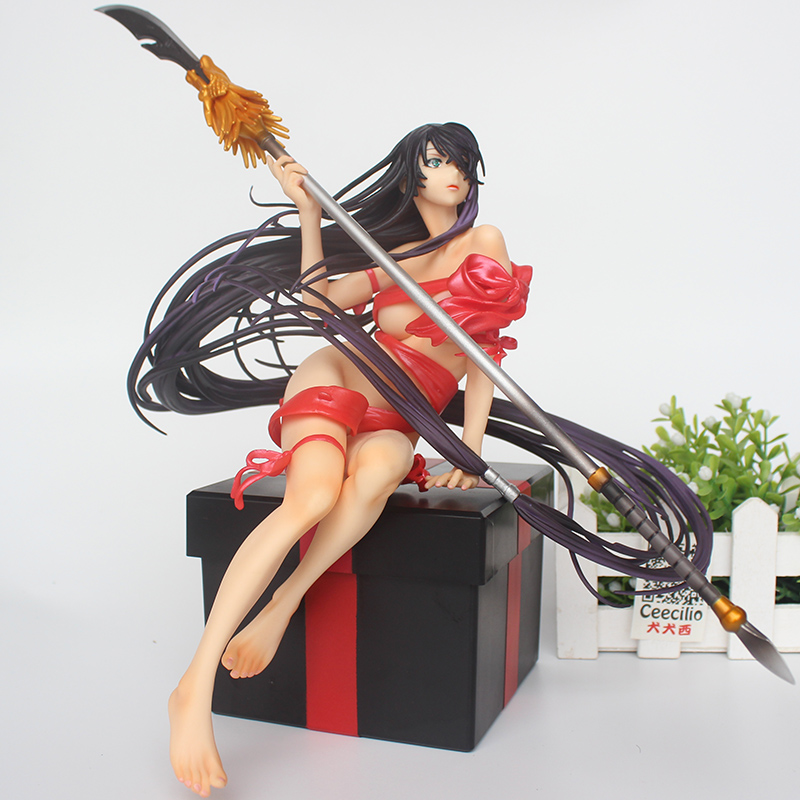2 couleurs ruban poupée Collection SHIN IKKI TOUSEN Kanu Unchou Sexy PVC Figure modèle à collectionner