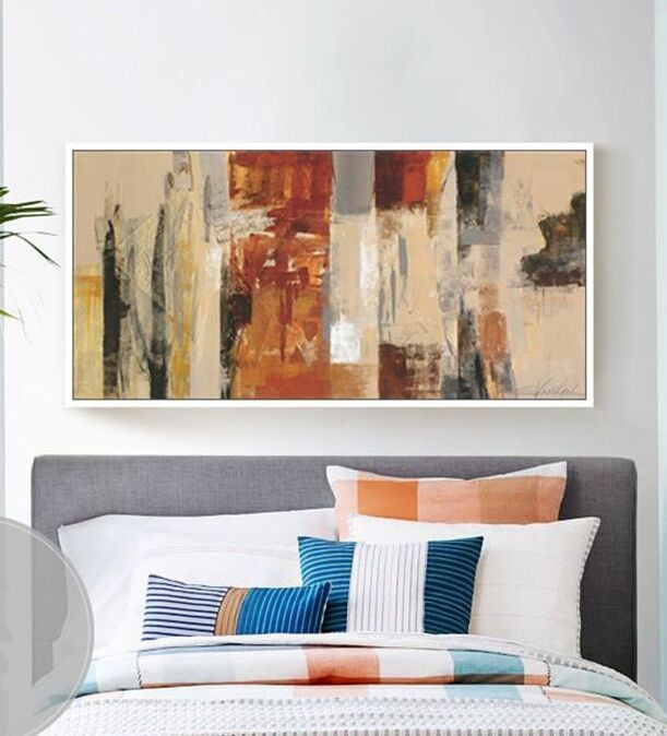 High quality handmade modern oil painting wall art canvas picture Abstract art picture home decor for living room sofa bedroom in Painting Calligraphy from Home Garden