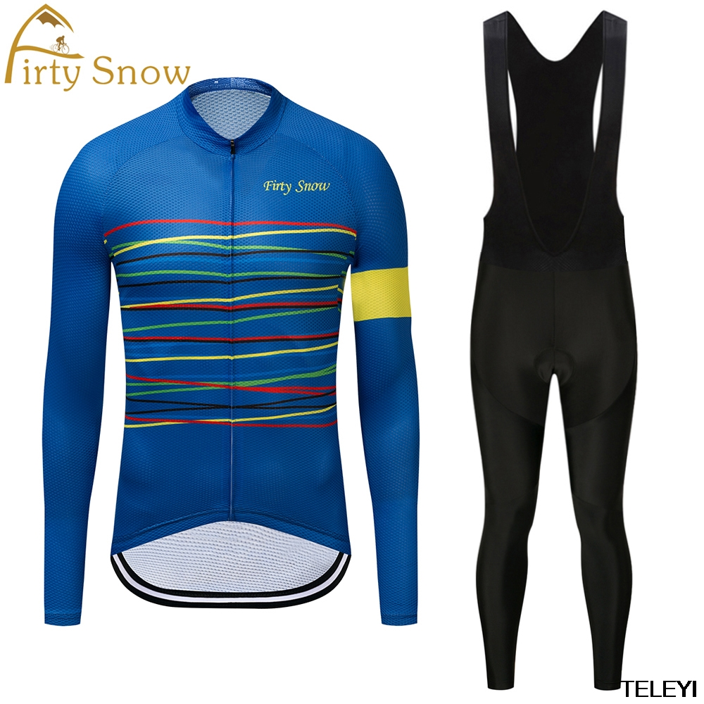 firty snow Brand 2018 High Quality Newest Pro Fabric Thin Cycling Jersey Wear Long Set Ropa Ciclismo Bike Clothing Pants L018