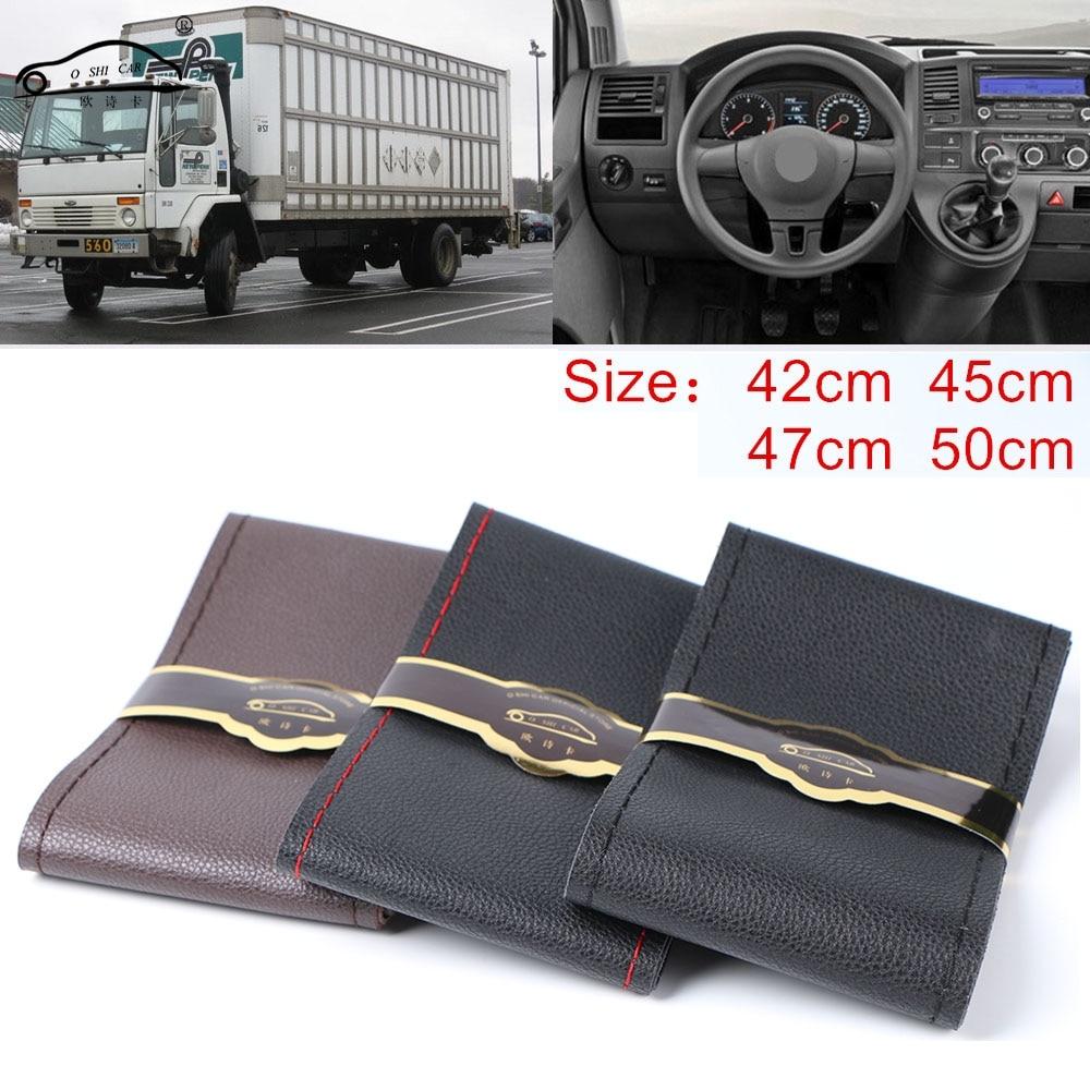 Экстра большой чехол на руль для грузовика RV, микро волоконная Кожаная оплетка на руль автомобиля, прочная 42 см, 45 см, 47 см, 50 см