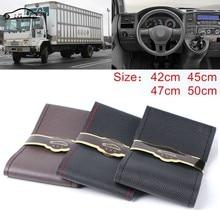 Extra grande cobertura de volante para o caminhão rv micro fibra couro volante do carro trança durável 42cm 45cm 47cm 50cm