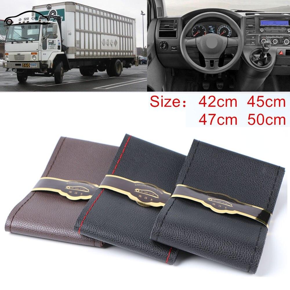 Extra grande copertura del volante per CAMPER Camion micro fibra ruota auto volante in pelle treccia Durevole 42 cm 45 cm 47 cm 50 cm