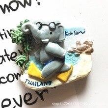 Thailand Koh Samui elephant travel souvenir refrigerator stickers