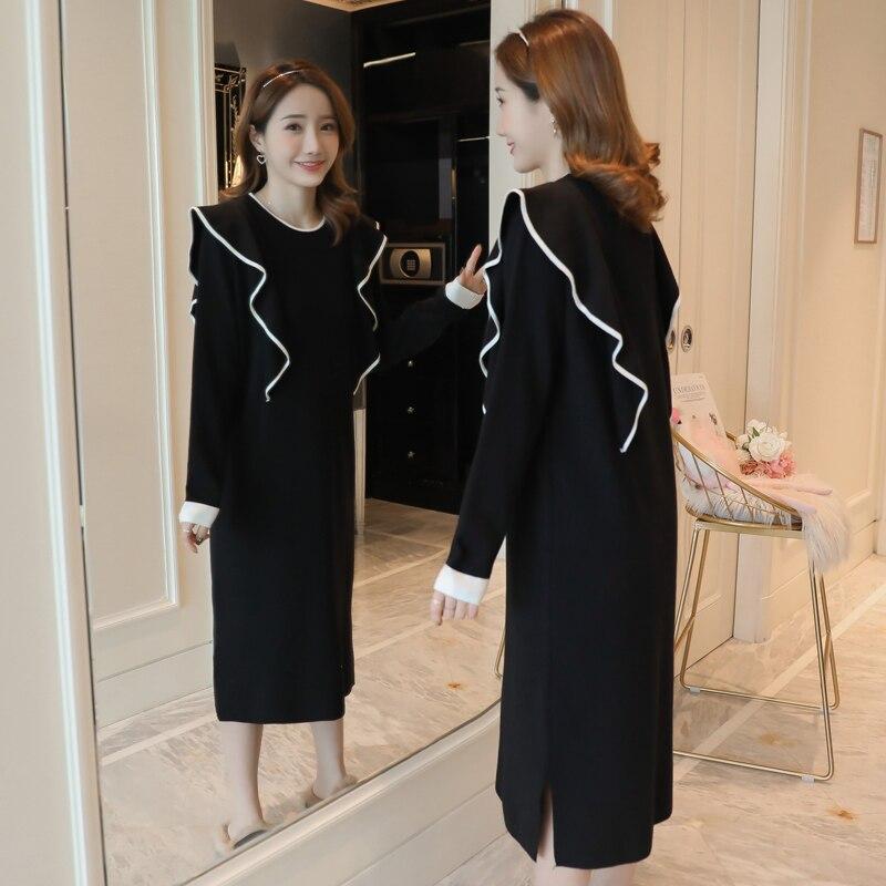 71e4b949ca4 Spring Nursing Knit Sweater Dress Breastfeeding Plus Size Ruffles Midi Long  Dresses for Pregnant Women Elegant Pregnancy Clothes - aliexpress.com -  imall. ...