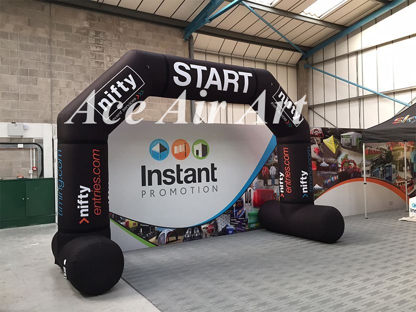 Commerical outdoor race <font><b>inflatable</b></font> start/finish line arch,and <font><b>billboard</b></font> arch logo wall free standing for sale image